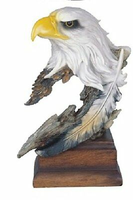 12 Inch Eagle Nature Wild Animal Wilderness Statue Collectible American Bust