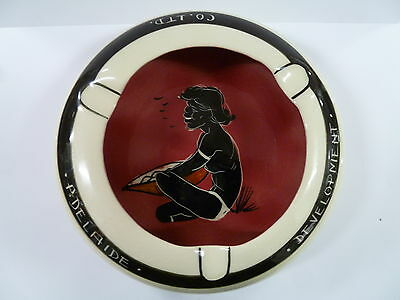 Studio Anna Hand Painted Ashtray With Aboriginal / Adelaide Development Co Ltd