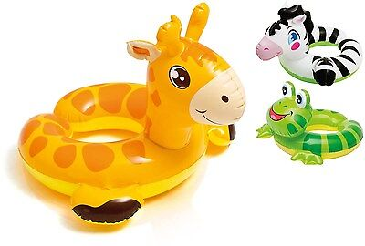 Intex Childrens Inflatable Animal Split Ring Swimming Pool Summer Beach Float