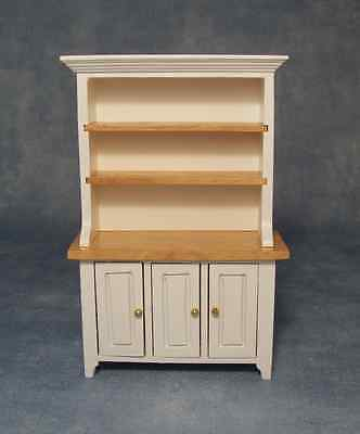 White & Pine Kitchen Dresser, Dolls House 1.12 Scale Miniature