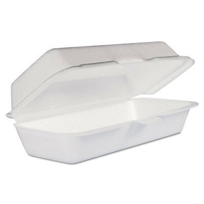 Dart Takeout Foam Clamshell Hot Dog Containers - DCC72HT1