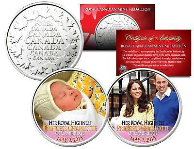 PRINCESS CHARLOTTE of Cambridge - Set of 2 Royal Canadian Mint Medallion Coins