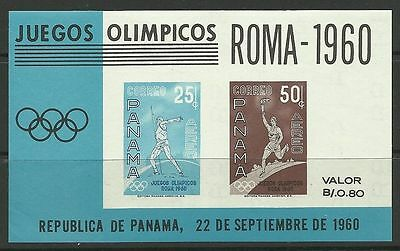 PANAMA. 1960. Olympic Games Miniature Sheet. SG: MS697. Mint Never Hinged.