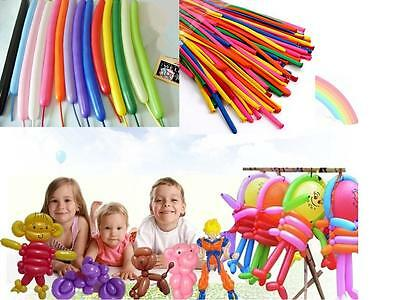 100pcs X New Balloons Different Colours Latex 260Q Traditional Modelling   HOCA