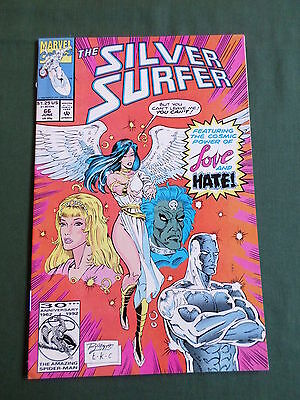 The Silver Surfer - Marvel Comic-Usa  - June 1992 - Vol3  #66   - Vg