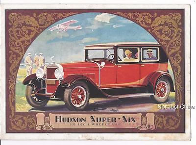 "Vintage Hudson - Hudson Super-Six 118"" Wheelbase Colored Brochure or Pamphlet"
