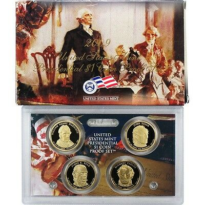 2009 S Presidential Dollar Proof 4 Coin Set United States Mint