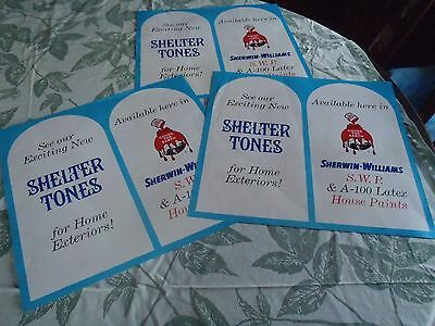 vintage Sherwin-Williams paper store posters lot of 3