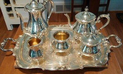 Gorham Silver Plated Coffee and Tea set with Tray