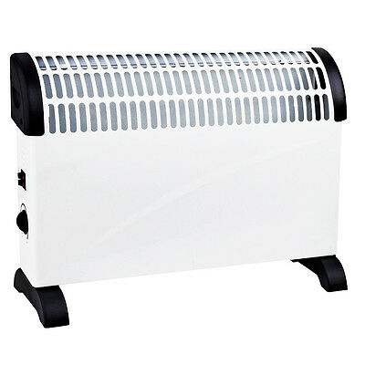 2KW Convector Heater 3 Adjustable Heat Settings - Home - Wall Mount - Free Stand