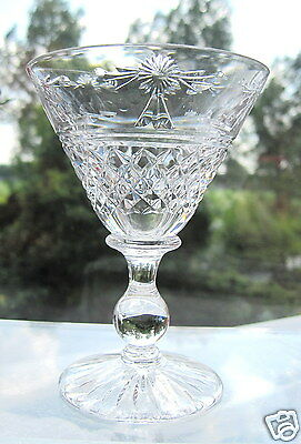 Stuart Crystal 1 Beaconsfield Liqueur Cocktail Glass Small Cocktail Bowl x 1 Sgn