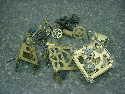 Lot of  Brass Clock Movements Gears Shafts Steam Punk Altered Art or Parts E448
