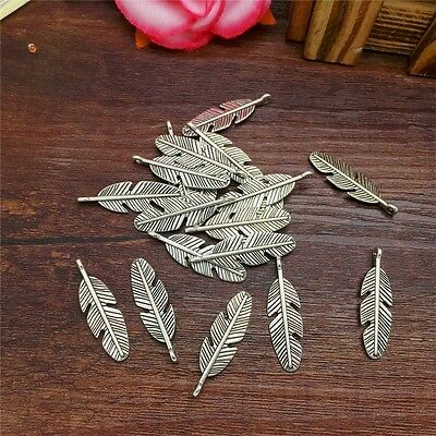 New Charm 12pcs Tree Leaf Tibet Silver Pendant Fit for Bracelet Necklace PJA19