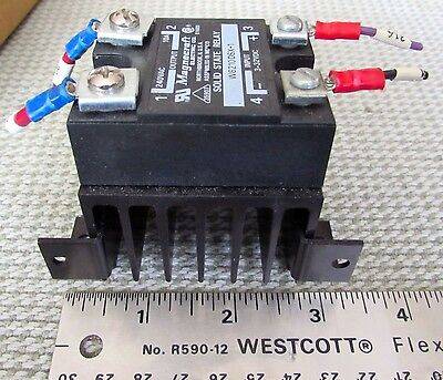 Magnecraft Solid State Relay SSR W6210DSX-1 3-32VDC 240VAC 10A Heat Sink Crydom