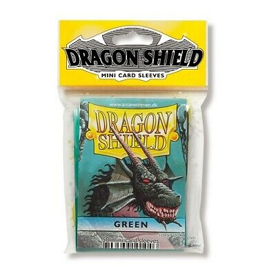 Dragon Shield 50 Mini Size Deck Protector Sleeves Green TCG YGO Yugioh