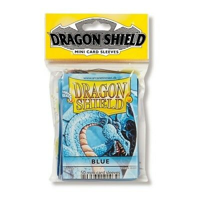 Dragon Shield 50 Mini Size Deck Protector Sleeves Blue TCG YGO Yugioh