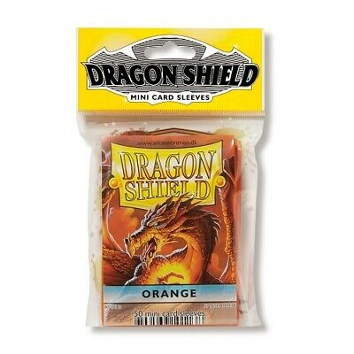 Dragon Shield 50 Mini Size Deck Protector Sleeves Orange TCG YGO Yugioh
