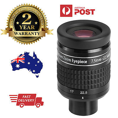 "1.25"" Zoom eyepiece for telescope - 7.5mm to 22.5mm EX William Optics - Astro"