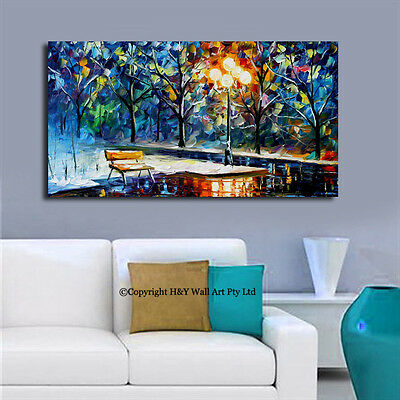 """Winter"" Stretched Canvas Print Framed Wall Art Home Decor Abstract Painting"