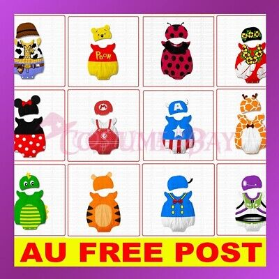 Monril Baby Boys Girls Animal Onsie Costume Bodysuit Outfit Romper Clothes Hat