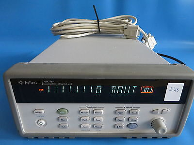 Agilent 34970A Data Acquisition/Switch Unit w/ 34907A DIO/Totalize/DAC Module