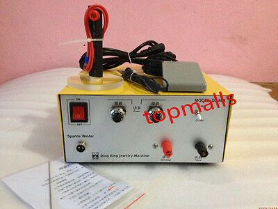2in1 80A Pulse Sparkle Spot Welder Gold Silver Platinum Jewelry Welding Machine