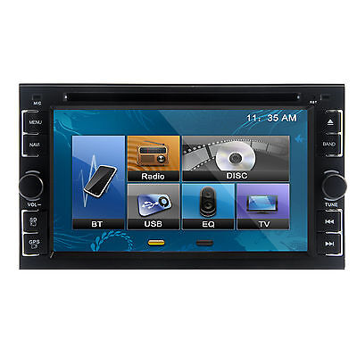 "AUTORADIO GPS Doppio 2 DIN 6.2"" DVD USB SD MP3 IPOD Bluetooth Audio+Rear Camera"