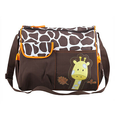 Baby Nappy Changing Giraffe Bag Includes Mat and Clear Accessory Bag - By TRIXES