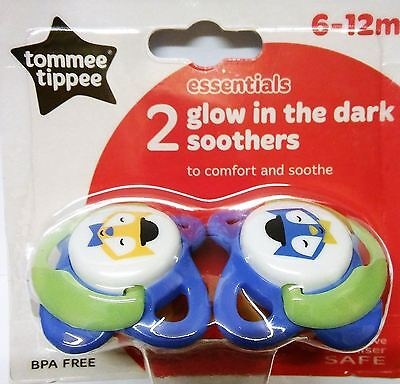 Tommee Tippee Essentials Glow in the Dark Soother - 6-12 Months Boy