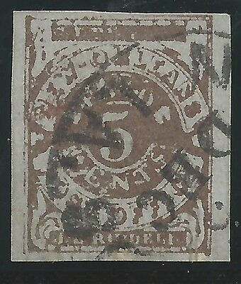 CSA Scott #62x4 Pos 14 New Orleans 5c Used Provisional Stamp Worn Block