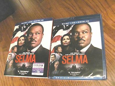 Selma: David Oyelowo, (Blu-ray+DVD +Digital HD, 2015, 2-Disc) NEW;Fast Shipper