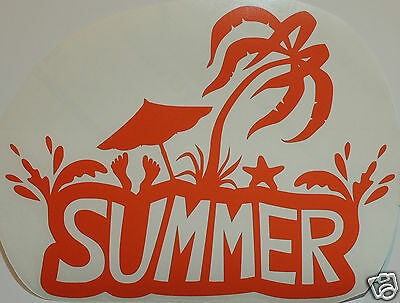 """Large """"SUMMER"""" Sticker/Decal- Surfing/Watersports/ Campervan/Camping"""