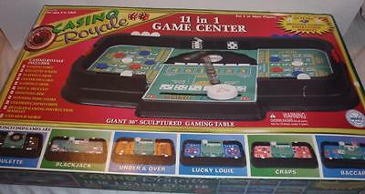 """Marx Toys Casino Royale 11 in 1 Game Center w/36"""" Long Gaming Table"""