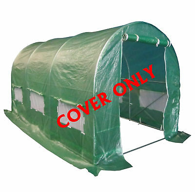 FoxHunter 3 Section Polytunnel Greenhouse Pollytunnel Poly Tunnel Cover 4m x 2m