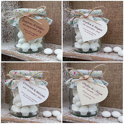 Personalised Heart Wedding Favour Gift Tags/Labels for boxes/bags/cutlery (H2)