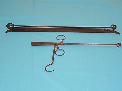 ANTIQUE BALANCE BEAM SCALE by H. SMITH MIDDLETOWN w/ WALL BRACKET