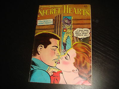 SECRET HEARTS #26 Girls Romance Young Love  Golden Age DC Comics 1955  FN/VF