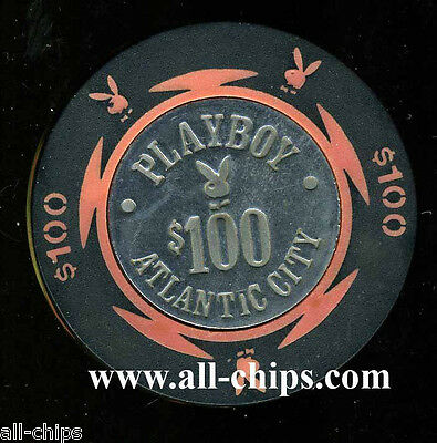 $100 Playboy Chip Old Obsolete Atlantic City Casino Chip from the Dig