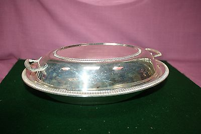 Antique  (marked) Sheffield silverplated covered serving dish