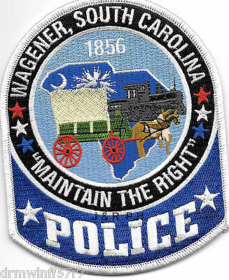 "Wagener, SC  ""Maintain the Right"" (4"" x 5"") shoulder police patch (fire)"