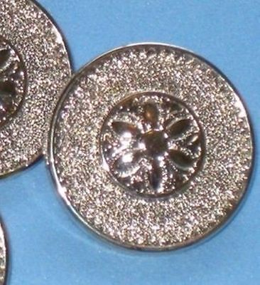 LOVELY Set 14 FLOWER Picture New SILVER Buttons