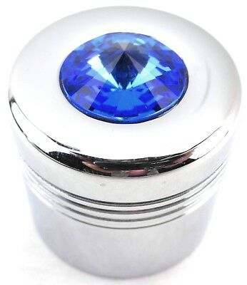 glove box knob cover blue jewel chrome aluminum for Peterbilt Kenworth