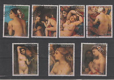Paraguay stamps USED - ART nude paintings 0241