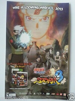 WonderCon 2013 Handout NARUTO Storm 3 Game promo poster