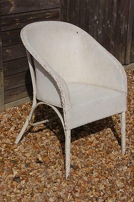 Smashing Shabby Chic Lloyd Loom Inspired Wicker Chair - White