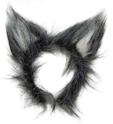 Deluxe Grey Wolf Ears  Fancy Dress Accessory Furry Headband Adult And Child