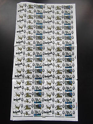 SG671 / 76 1965 Battle of Britain 4d Ordinary in complete sheet of 120