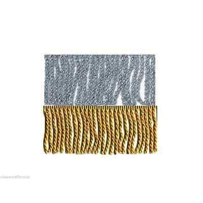 Gold Or Silver Bullion Metallic Fringe Fringing 60mm (6cm) x 1m Tassel