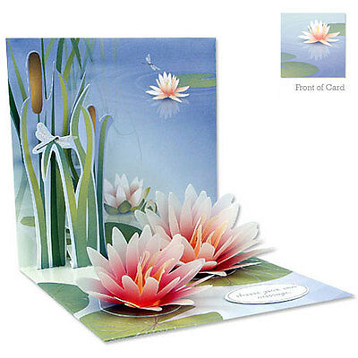 3D Greeting Card by Up With Paper - Water Lily #1047