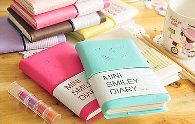 Cute Charming Mini Portable Smiley Paper Diary Notebook Memo Note Book US SELLER